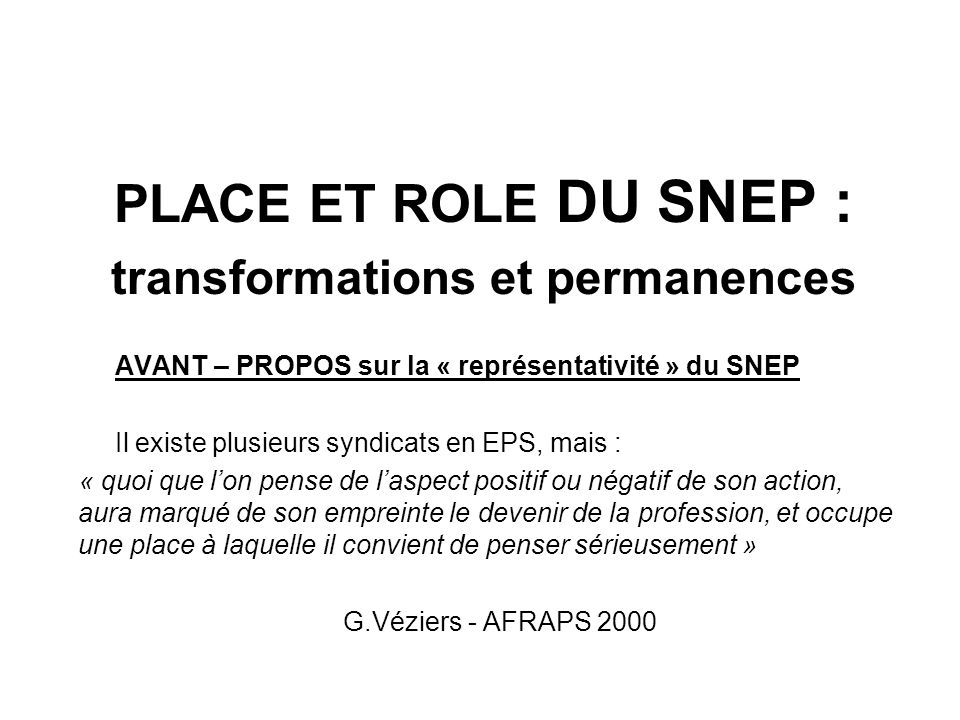 transformations et permanences