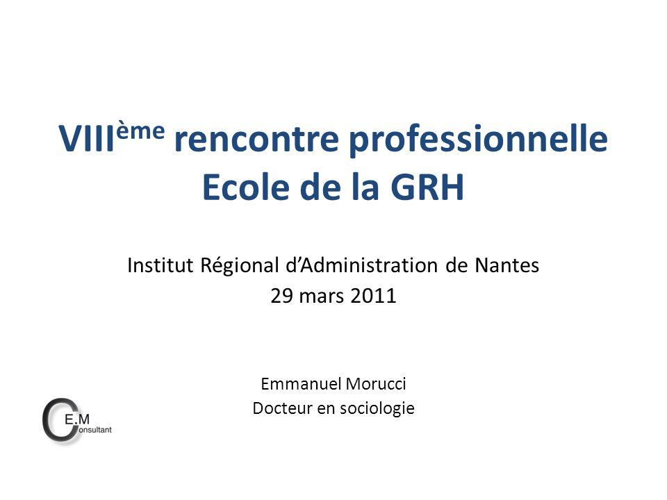 VIIIème rencontre professionnelle Ecole de la GRH