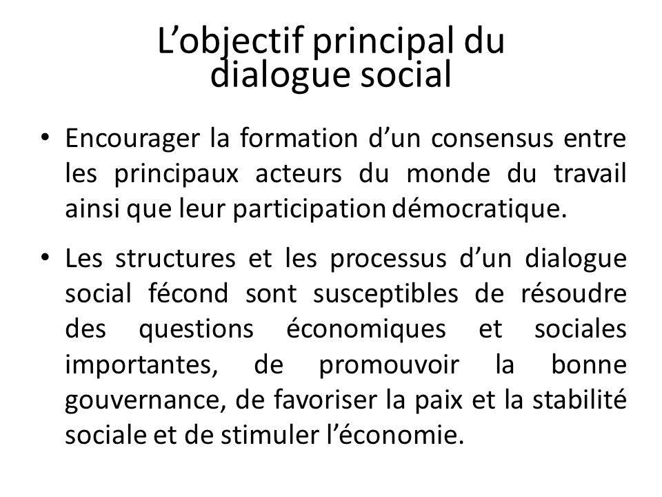 L'objectif principal du dialogue social