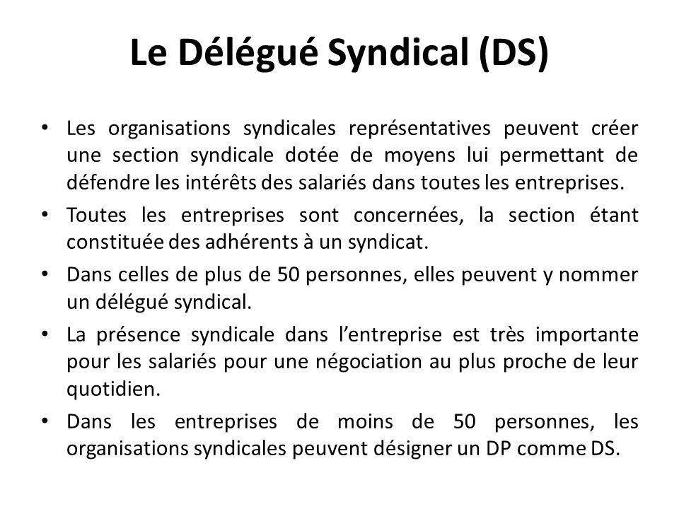 Le Délégué Syndical (DS)