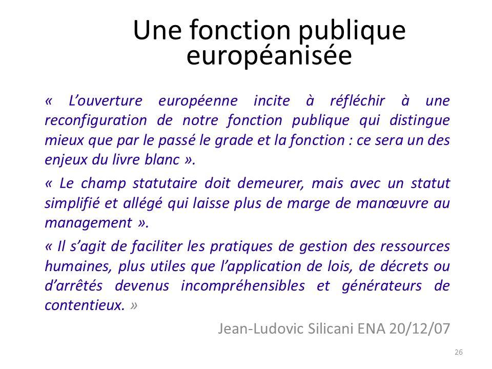 Une fonction publique européanisée