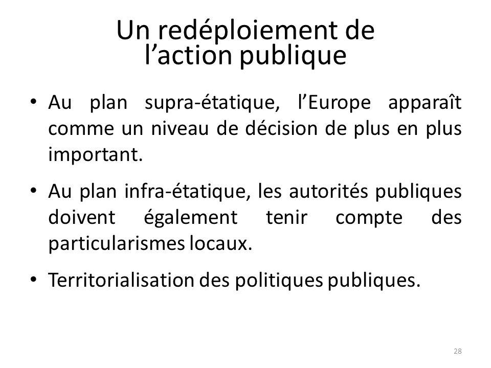 Un redéploiement de l'action publique
