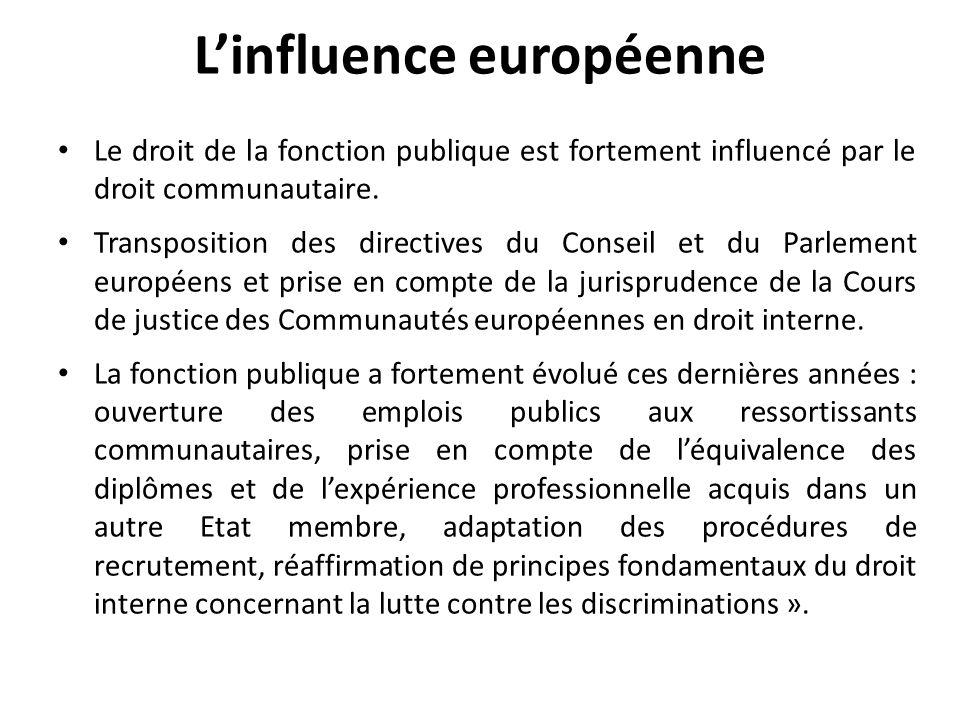 L'influence européenne