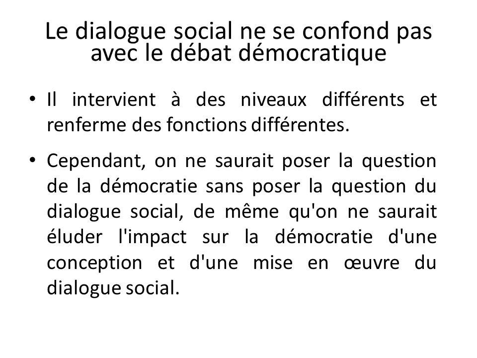 Le dialogue social ne se confond pas avec le débat démocratique
