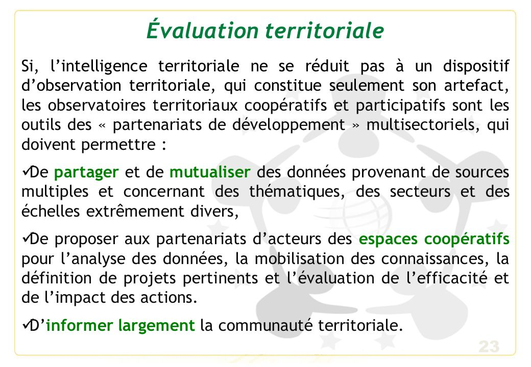 Évaluation territoriale