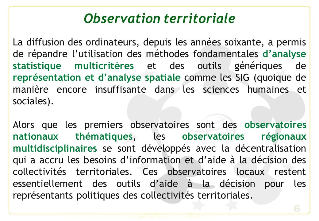 Observation territoriale
