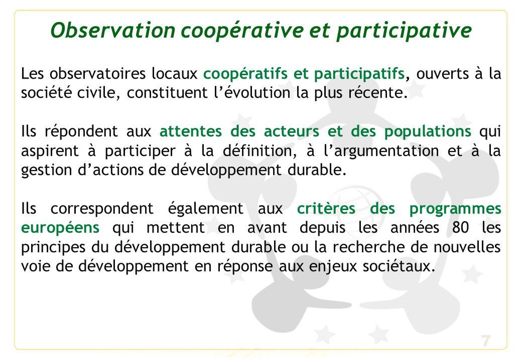 Observation coopérative et participative