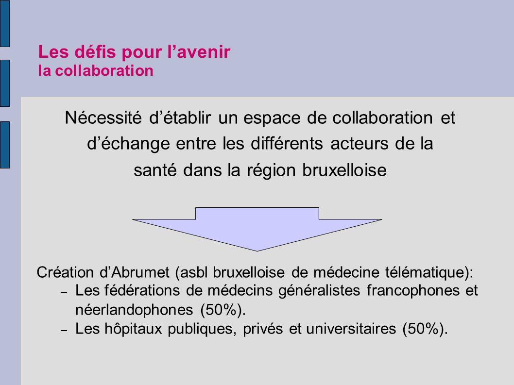 Les défis pour l'avenir la collaboration