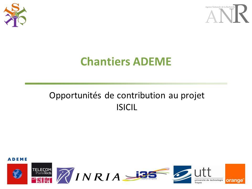 Opportunités de contribution au projet ISICIL