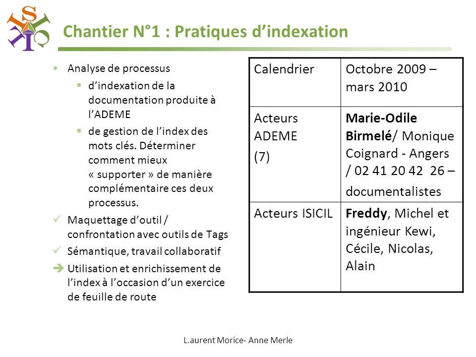 Chantier N°1 : Pratiques d'indexation