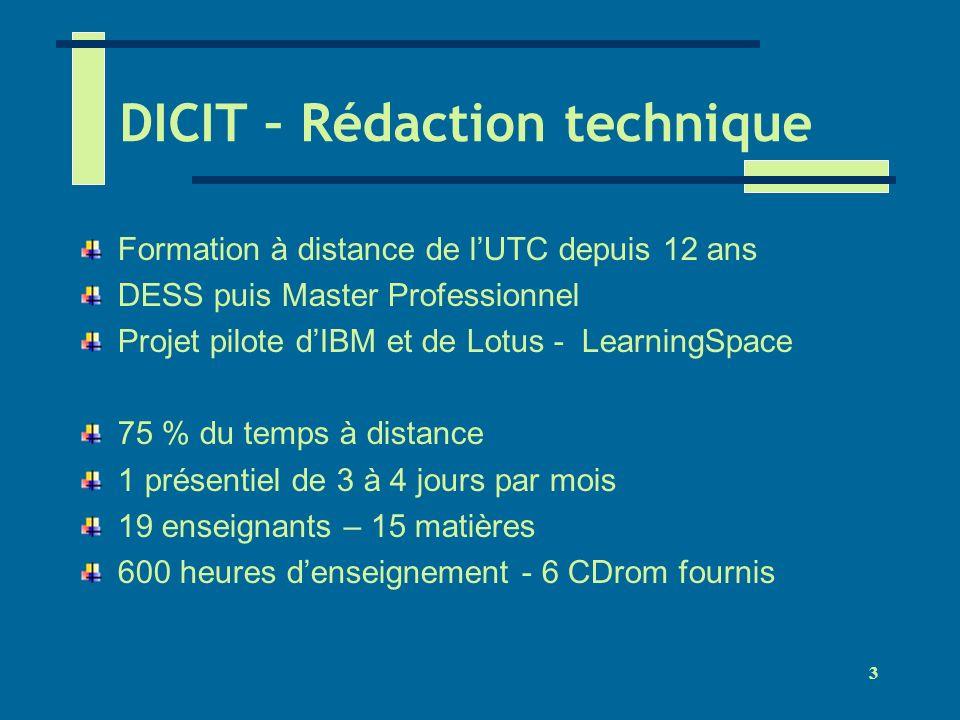 DICIT – Rédaction technique
