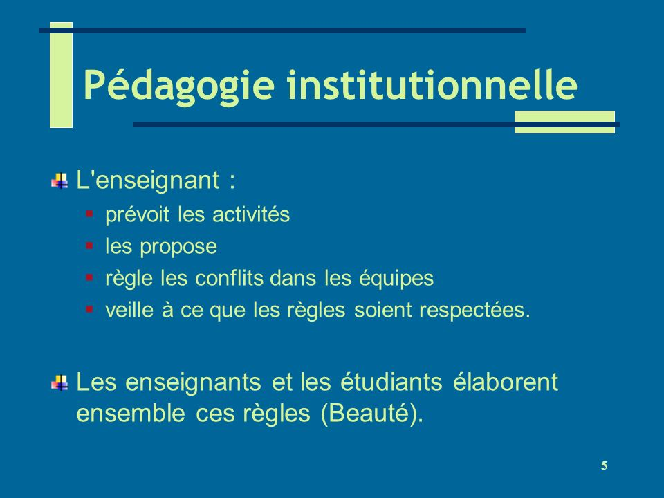 Pédagogie institutionnelle