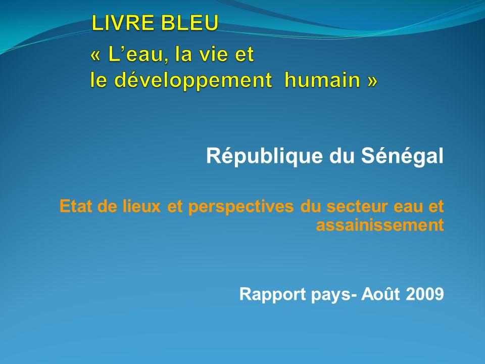 LIVRE BLEU « L'eau, la vie et le développement humain »