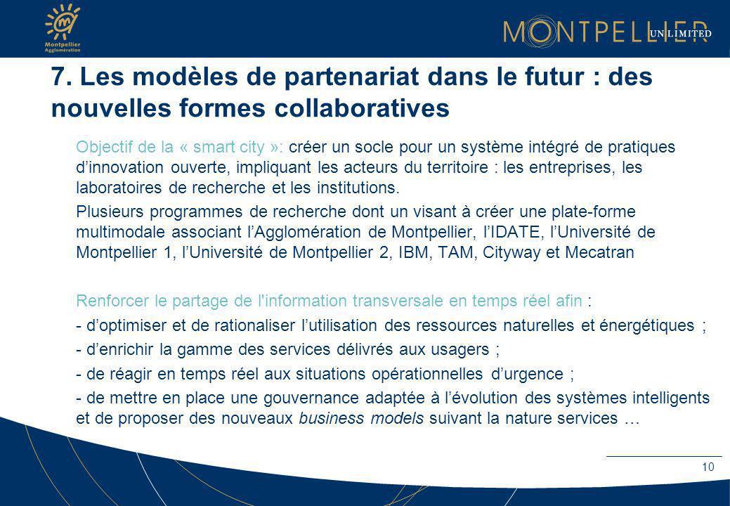 7. Les modèles de partenariat dans le futur : des nouvelles formes collaboratives