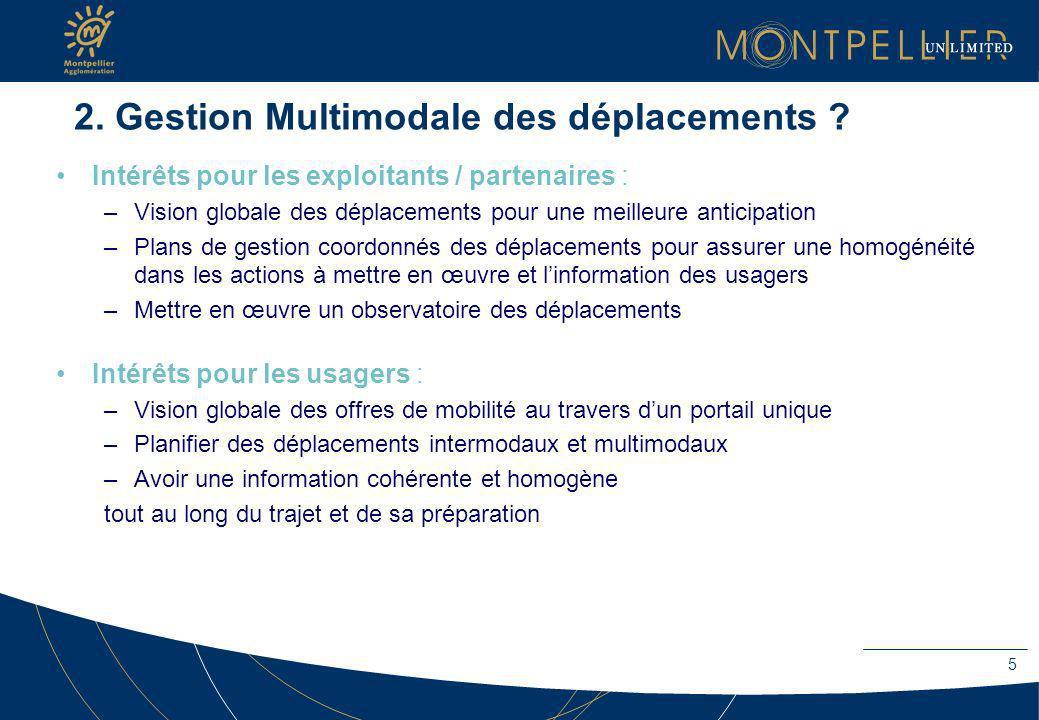 2. Gestion Multimodale des déplacements