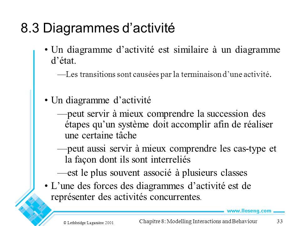 8.3 Diagrammes d'activité