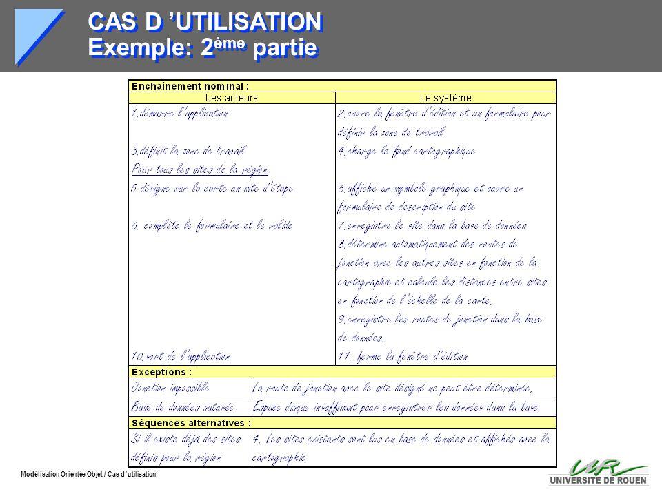 CAS D 'UTILISATION Exemple: 2ème partie