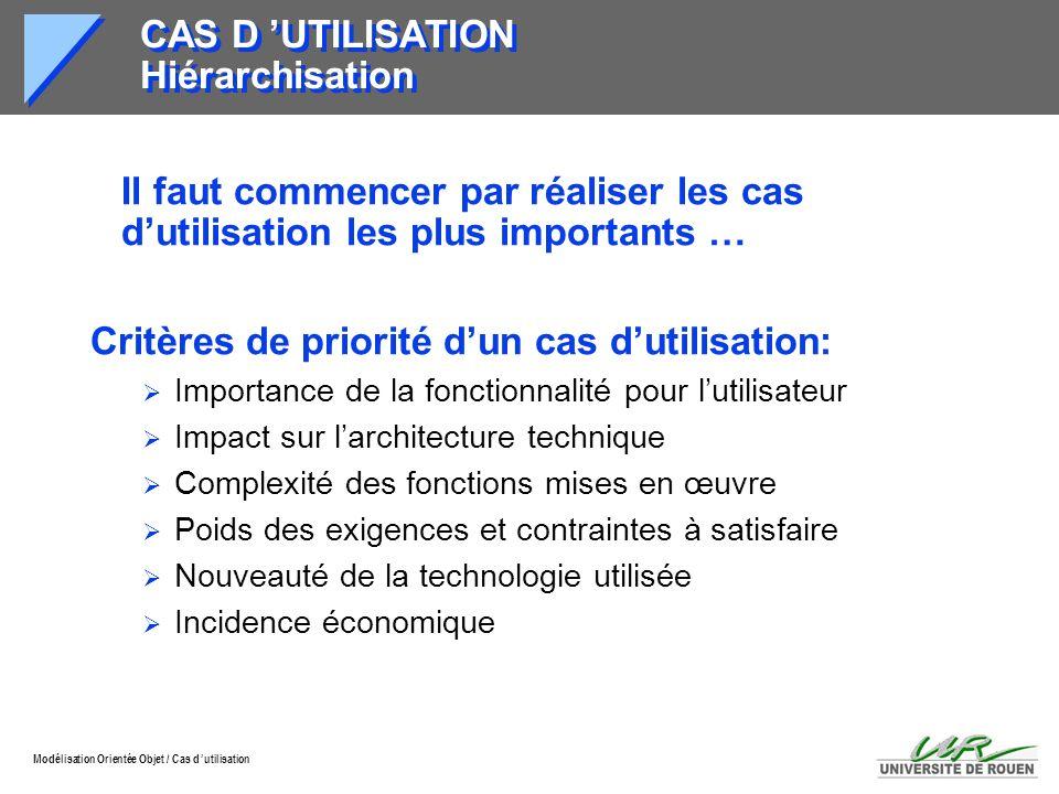 CAS D 'UTILISATION Hiérarchisation