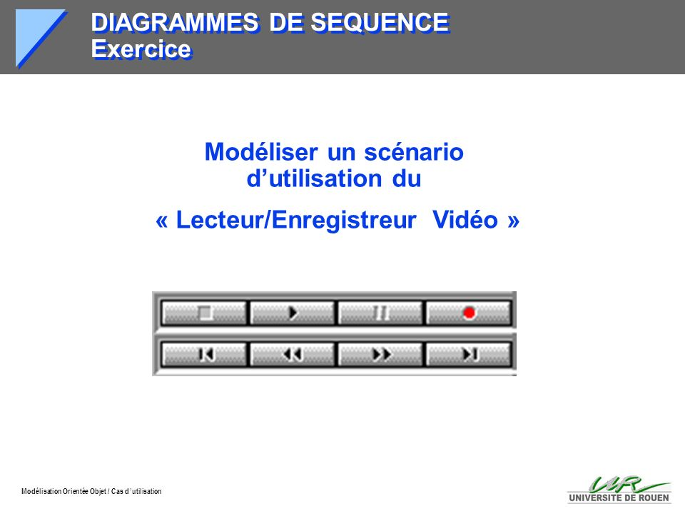 DIAGRAMMES DE SEQUENCE Exercice