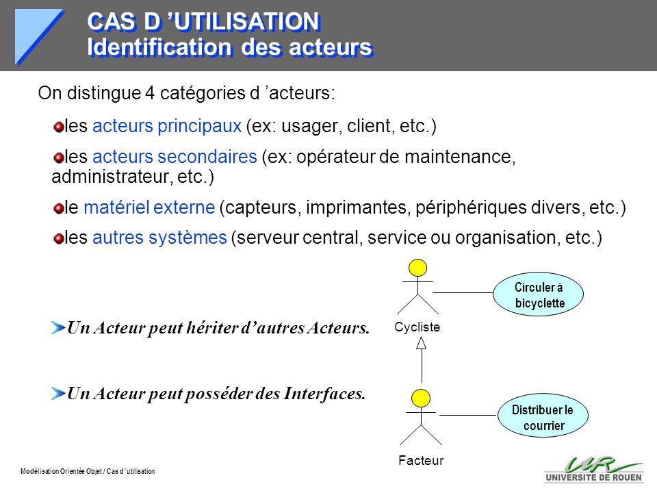 CAS D 'UTILISATION Identification des acteurs