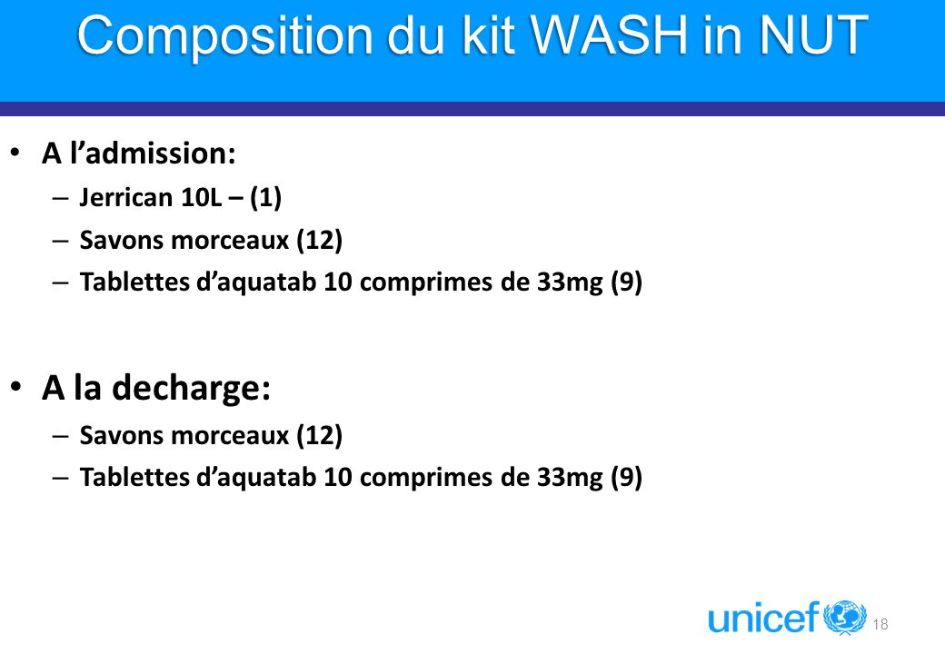 Composition du kit WASH in NUT