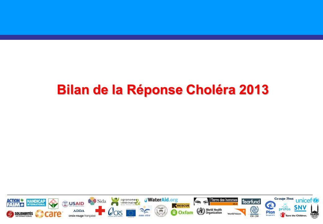 Bilan de la Réponse Choléra 2013