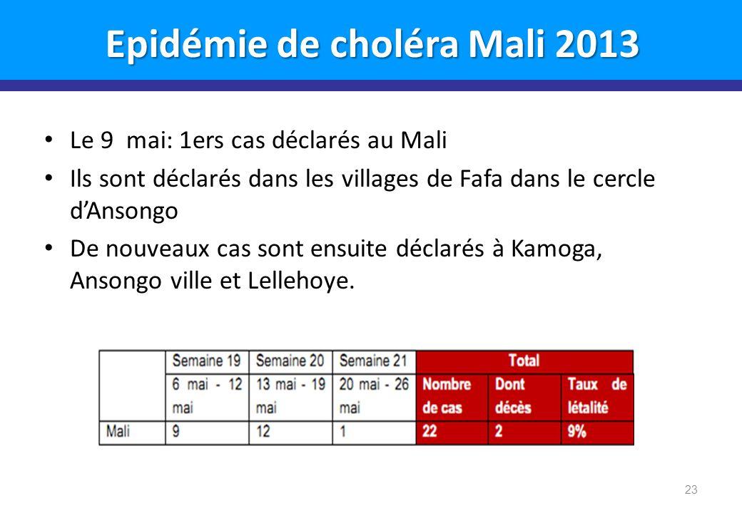 Epidémie de choléra Mali 2013