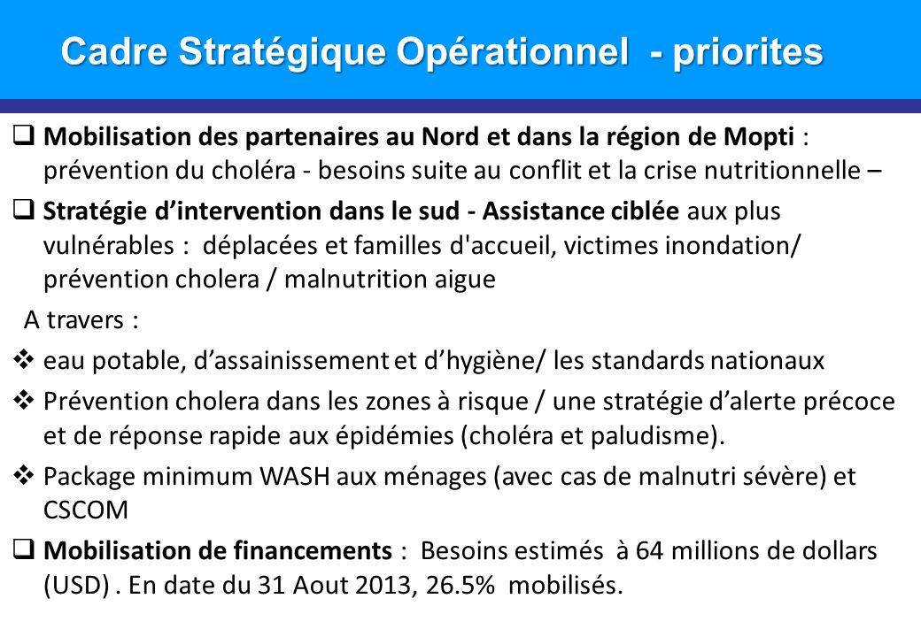 Cadre Stratégique Opérationnel - priorites