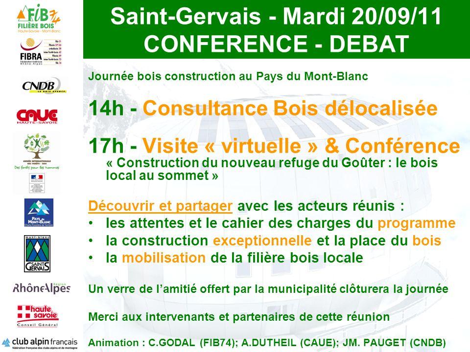Saint-Gervais - Mardi 20/09/11 CONFERENCE - DEBAT