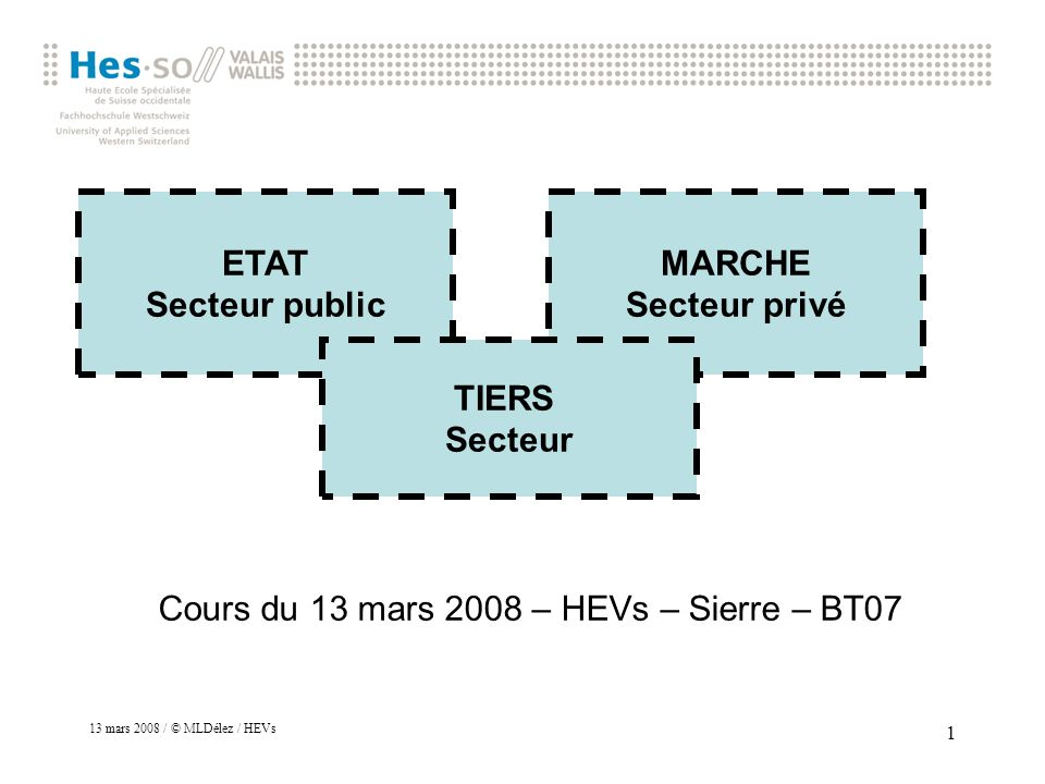 Cours du 13 mars 2008 – HEVs – Sierre – BT07