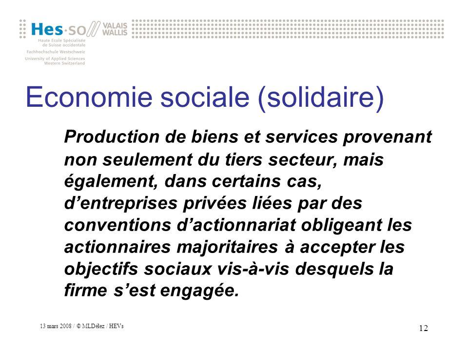 Economie sociale (solidaire)
