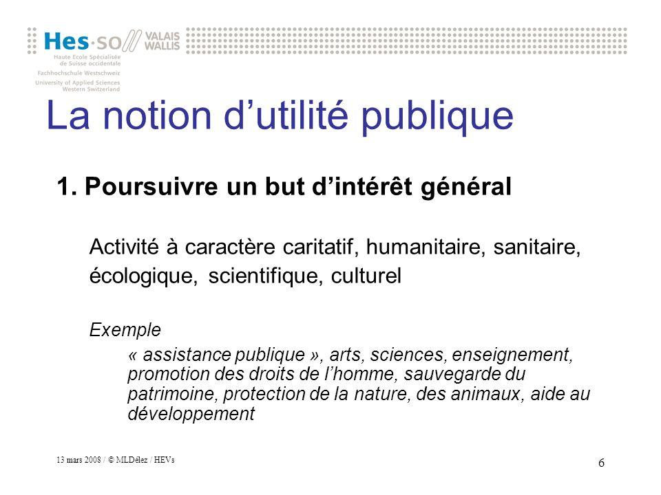 La notion d'utilité publique