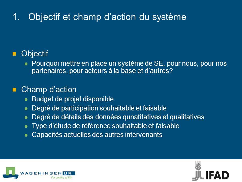 Objectif et champ d'action du système