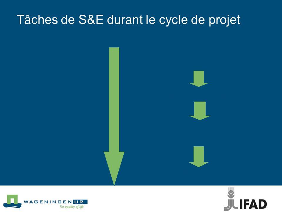 Tâches de S&E durant le cycle de projet