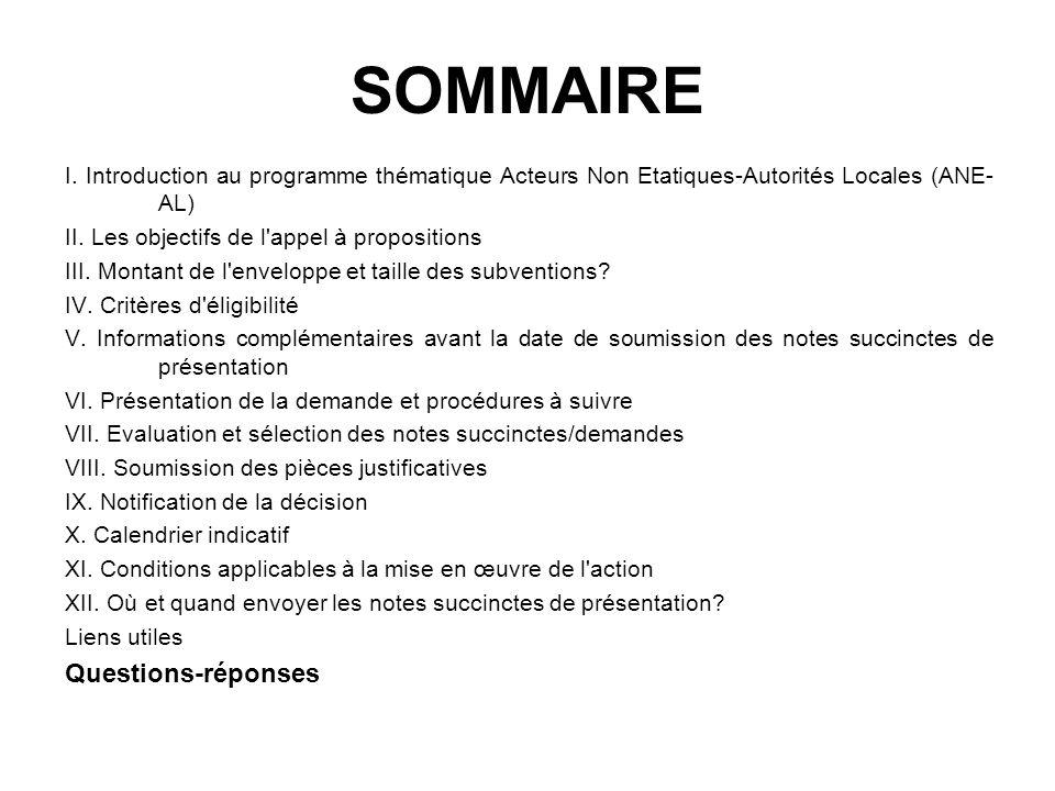 SOMMAIRE Questions-réponses