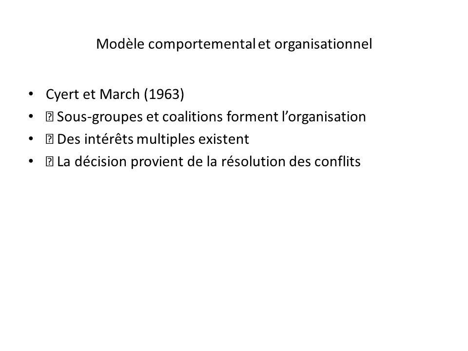 Modèle comportemental et organisationnel