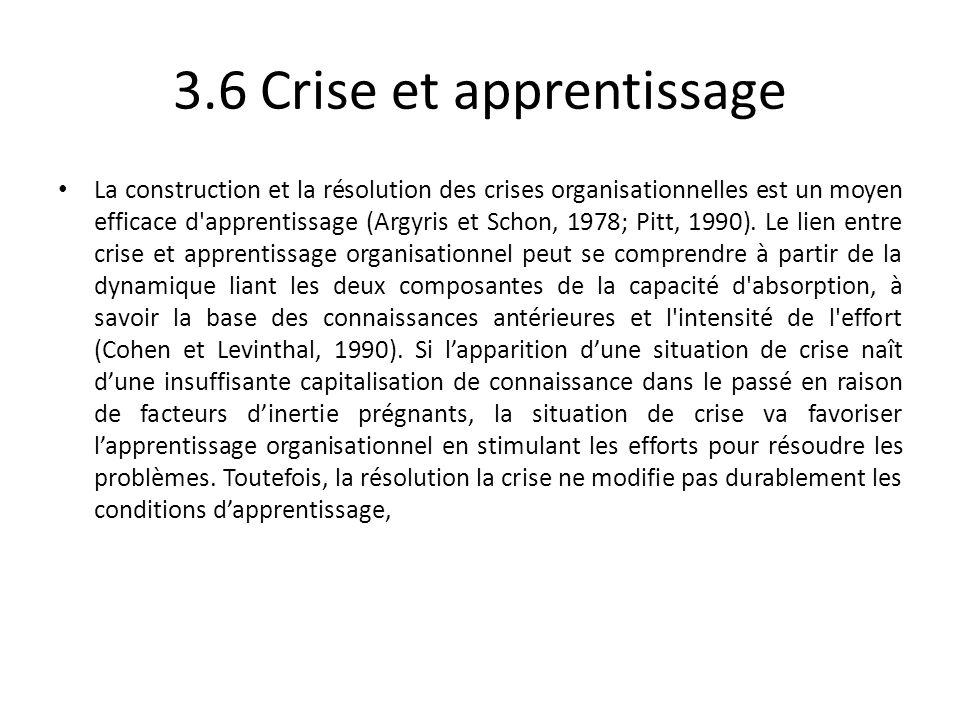 3.6 Crise et apprentissage