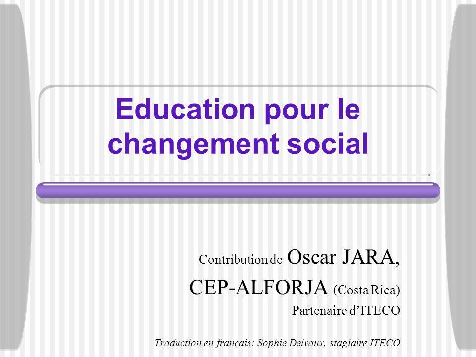 Education pour le changement social