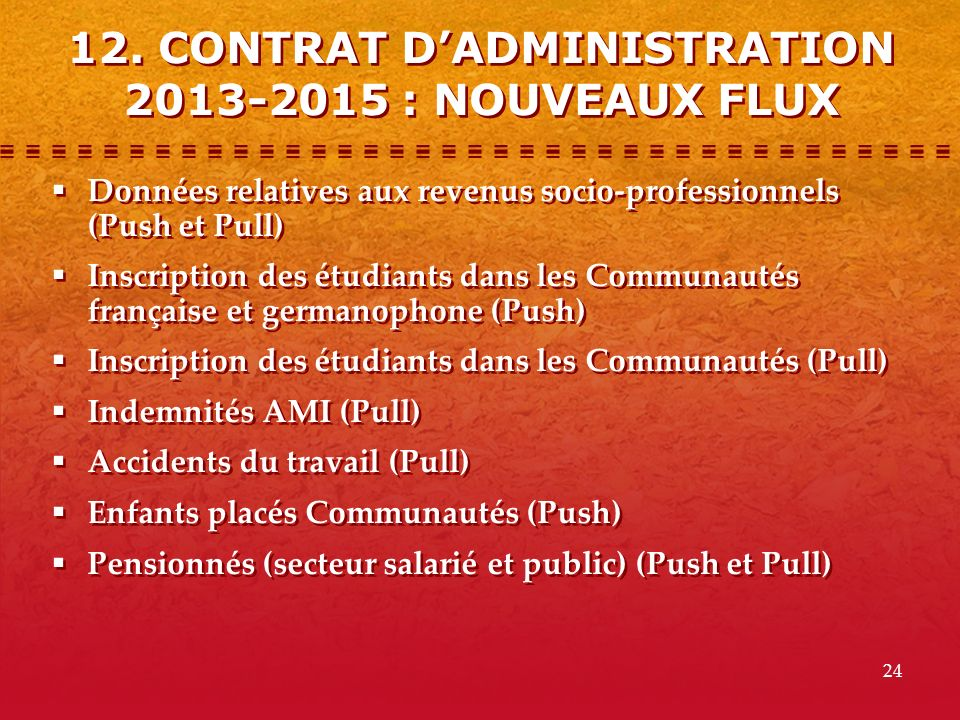 12. CONTRAT D'ADMINISTRATION