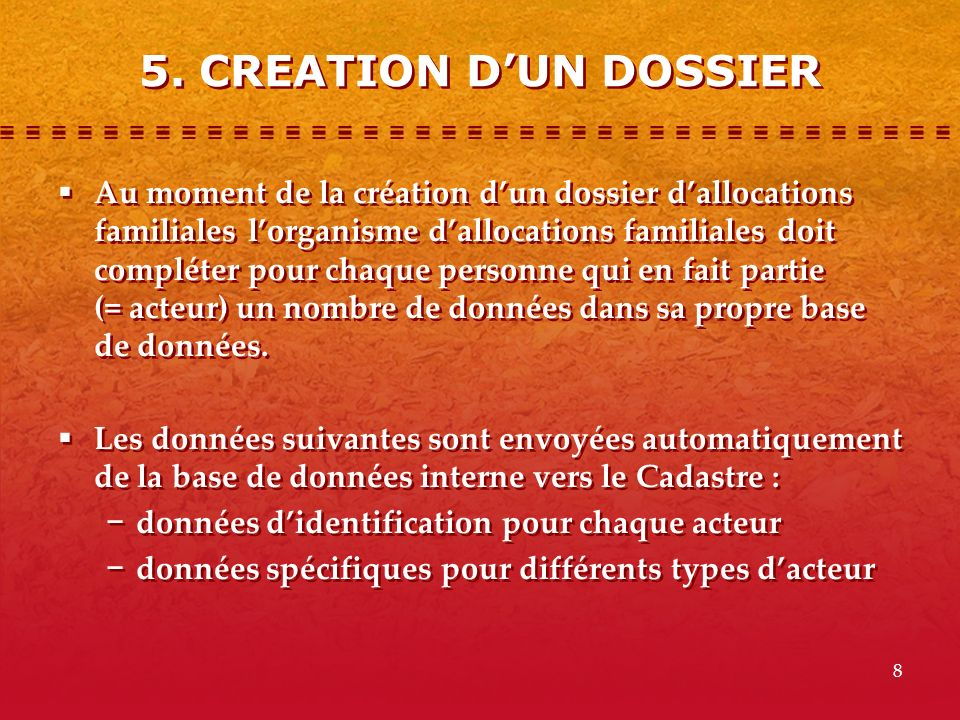 5. CREATION D'UN DOSSIER