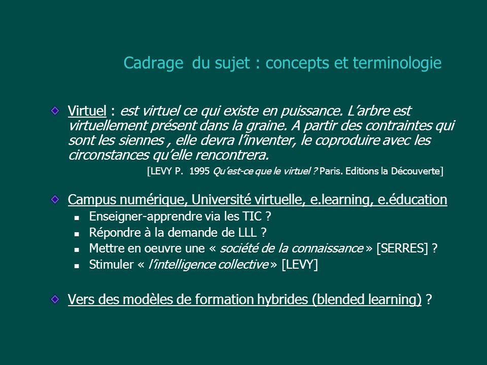 Cadrage du sujet : concepts et terminologie
