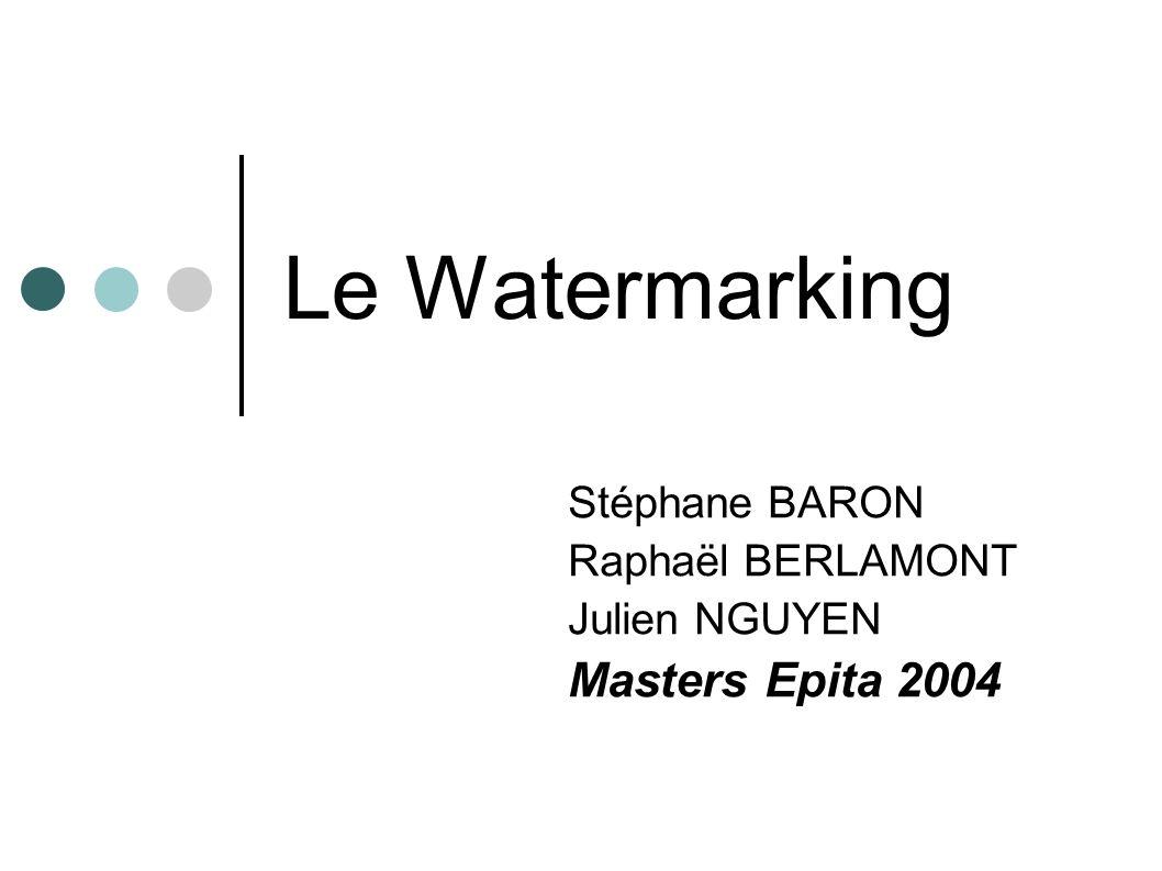 Stéphane BARON Raphaël BERLAMONT Julien NGUYEN Masters Epita 2004
