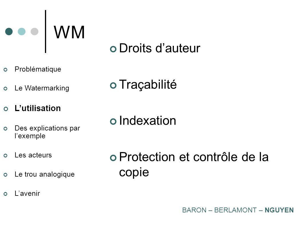 WM Droits d'auteur Traçabilité Indexation