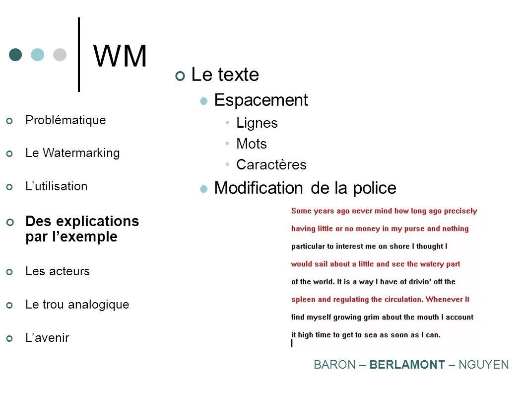 WM Le texte Espacement Modification de la police Lignes Mots