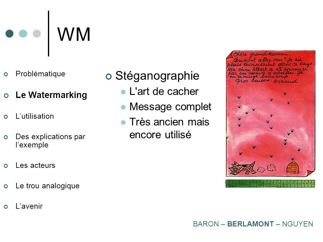 WM Stéganographie L art de cacher Message complet