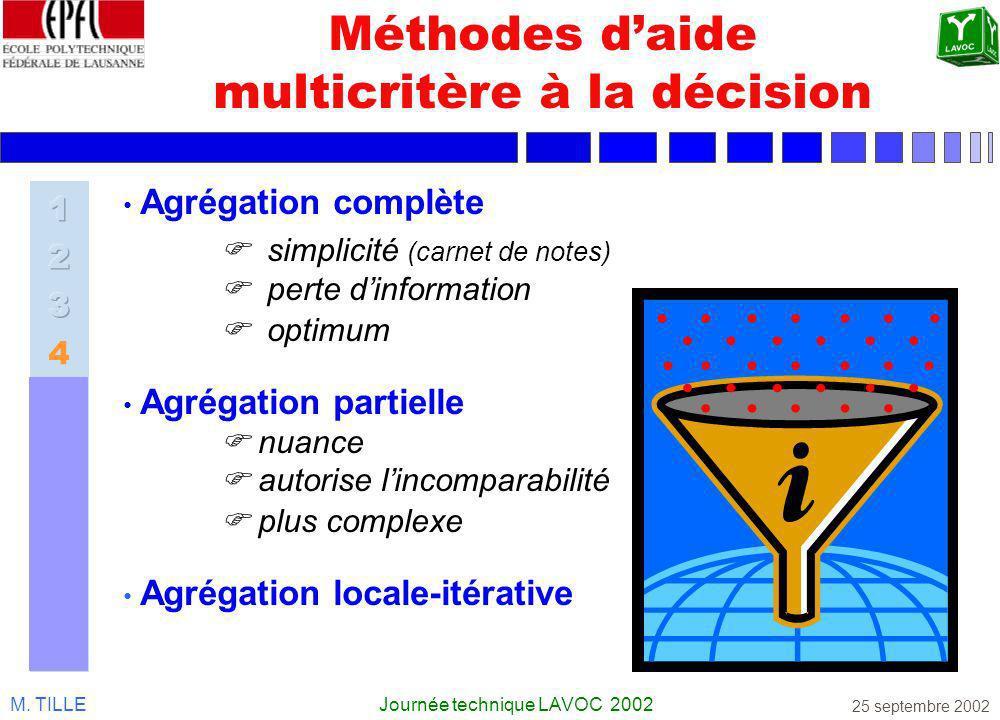 Méthodes d'aide multicritère à la décision