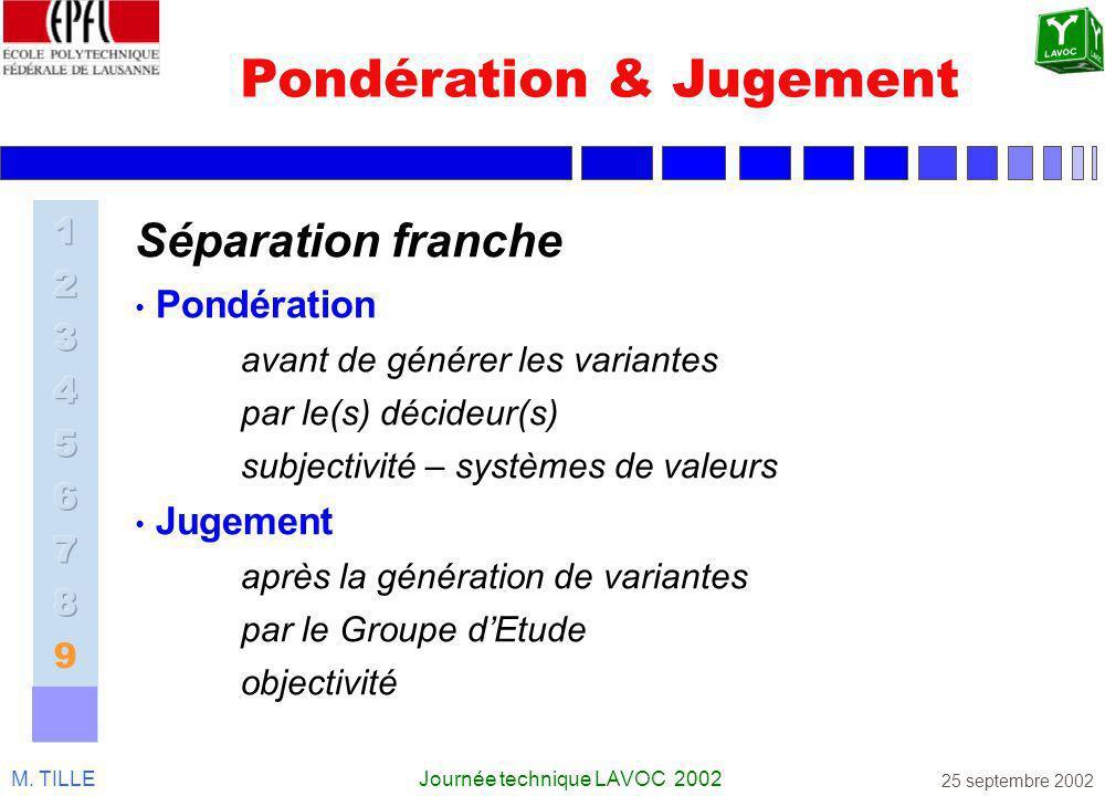 Pondération & Jugement