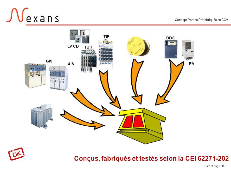 Conçus, fabriqués et testés selon la CEI 62271-202