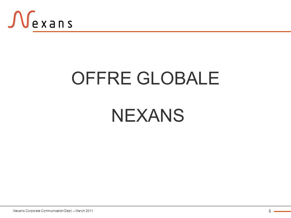 OFFRE GLOBALE NEXANS