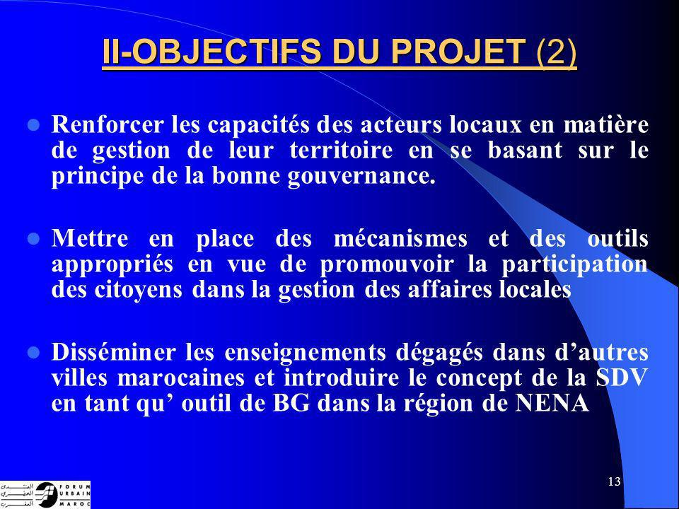 II-OBJECTIFS DU PROJET (2)